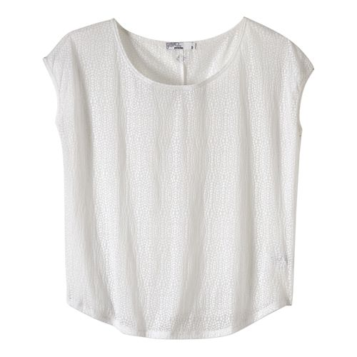 Womens prAna Tandi Short Sleeve Technical Tops - White M