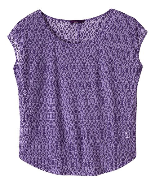 Womens prAna Tandi Short Sleeve Technical Tops - Ultra Violet M