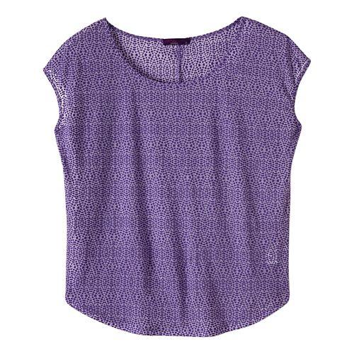 Womens prAna Tandi Short Sleeve Technical Tops - Ultra Violet L