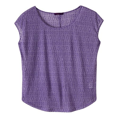 Womens prAna Tandi Short Sleeve Technical Tops - Ultra Violet S