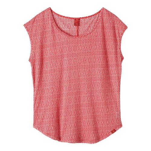 Womens prAna Tandi Short Sleeve Technical Tops - Red S