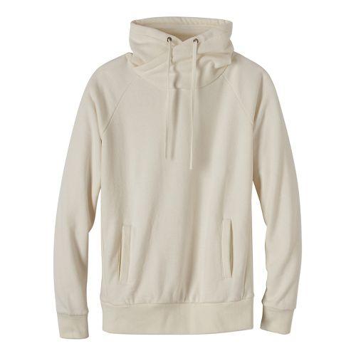 Womens prAna Gotu Pullover Half-Zips & Hoodies Technical Tops - White/White M