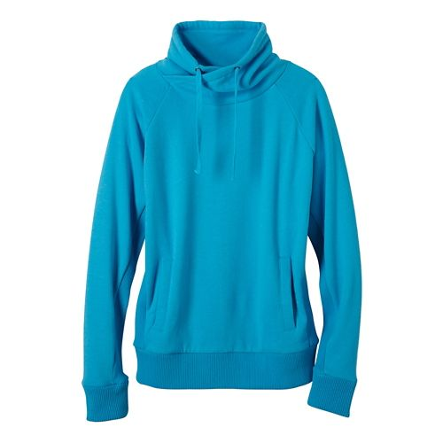 Womens prAna Gotu Pullover Half-Zips & Hoodies Technical Tops - Baja Blue M