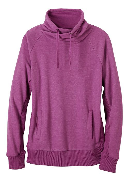 Womens prAna Gotu Pullover Half-Zips & Hoodies Technical Tops - True Orchid S