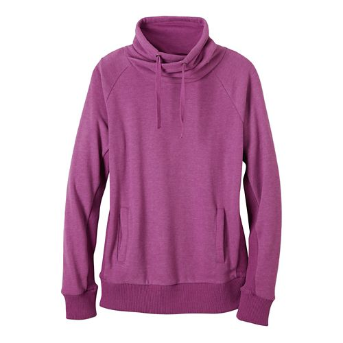 Womens prAna Gotu Pullover Half-Zips & Hoodies Technical Tops - True Orchid L