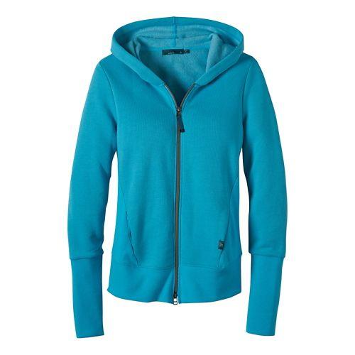 Womens Prana Honey Hoodie & Sweatshirts Technical Tops - Baja Blue S