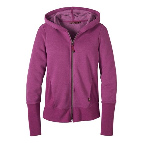 Womens Prana Honey Hoodie & Sweatshirts Technical Tops - True Orchid L