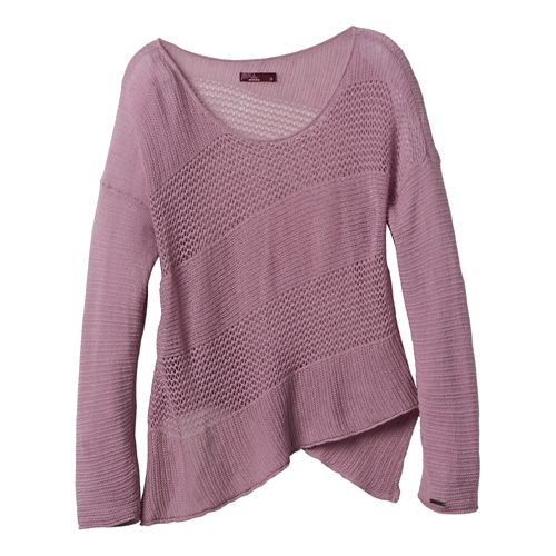 Womens Prana Liana Sweater Long Sleeve Non-Technical Tops - Dusted Blush L
