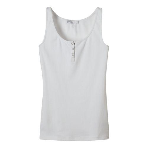 Womens Prana Jane Sleeveless & Tank Non-Technical Tops - White XL