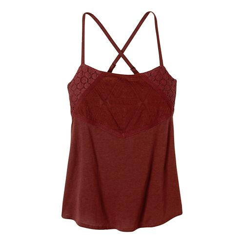 Womens Prana Pearl Sleeveless & Tank Non-Technical Tops - Raisin L