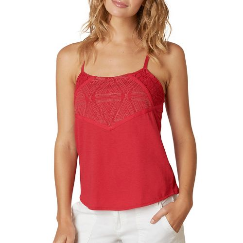 Womens Prana Pearl Sleeveless & Tank Non-Technical Tops - Sunwashed Red XL