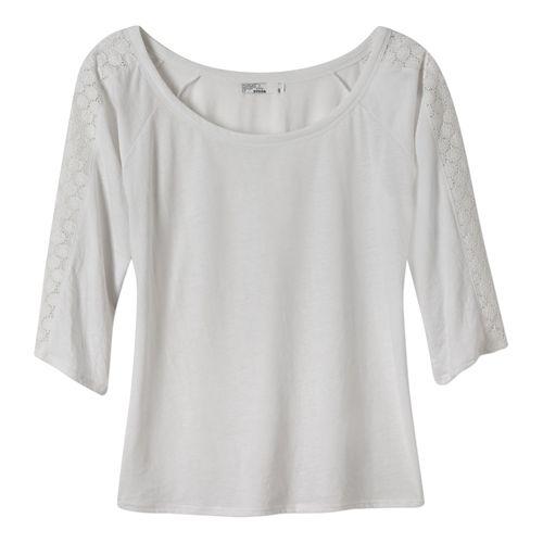 Womens Prana Alisana Long Sleeve Non-Technical Tops - White S