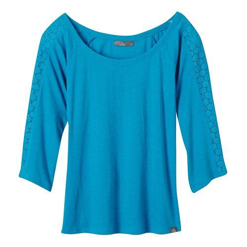 Womens Prana Alisana Long Sleeve Non-Technical Tops - Cove XL