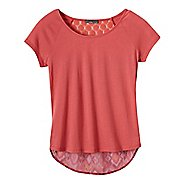 Womens Prana Dina Short Sleeve Non-Technical Tops