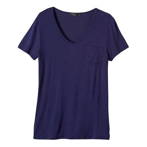 Womens Prana Hildi Short Sleeve Non-Technical Tops - Indigo L