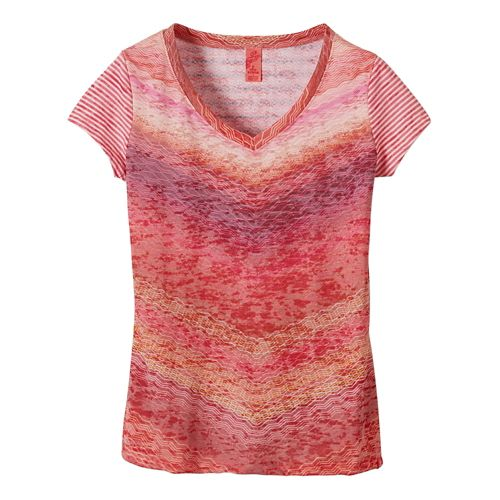 Womens Prana Hillary Short Sleeve Non-Technical Tops - Azalea XS