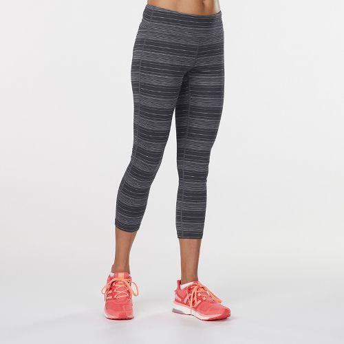 Womens R-Gear Leg Up Printed Crop Legging Capris Tights - Black Stripe M