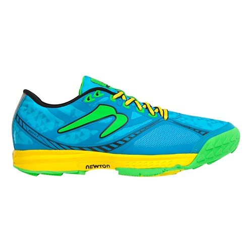 Womens Newton Trail Boco AT II Trail Running Shoe - Sky Blue/Green 10.5
