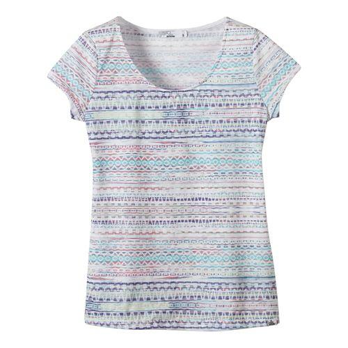 Womens Prana Garland Tee Short Sleeve Non-Technical Tops - White XL