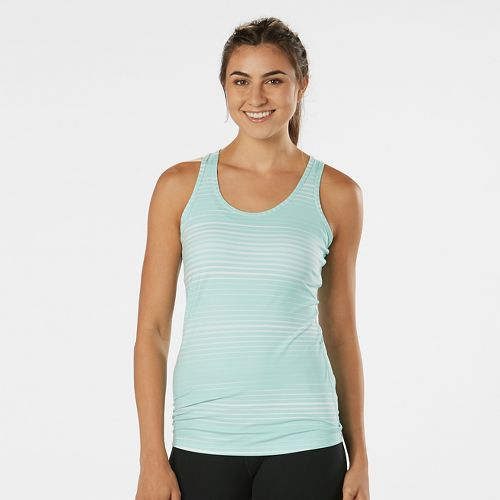 Womens R-Gear Revive Printed Racerback Sleeveless & Tank Technical Tops - Sea Glass Stripe S