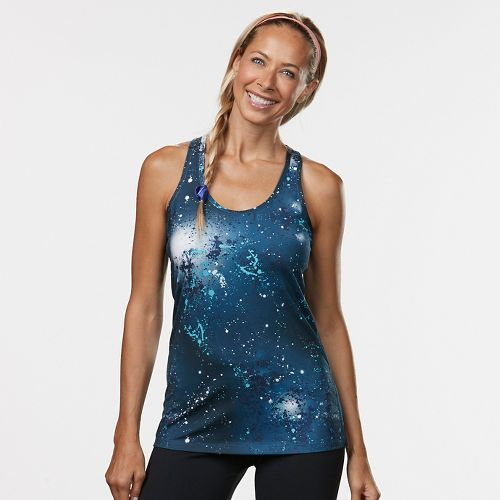 Womens R-Gear Revive Printed Racerback Sleeveless & Tank Technical Tops - Teal Night Galaxy M ...
