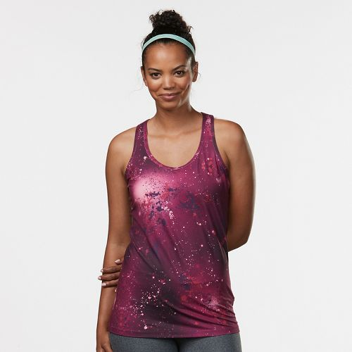 Womens R-Gear Revive Printed Racerback Sleeveless & Tank Technical Tops - Let's Jam Galaxy XS