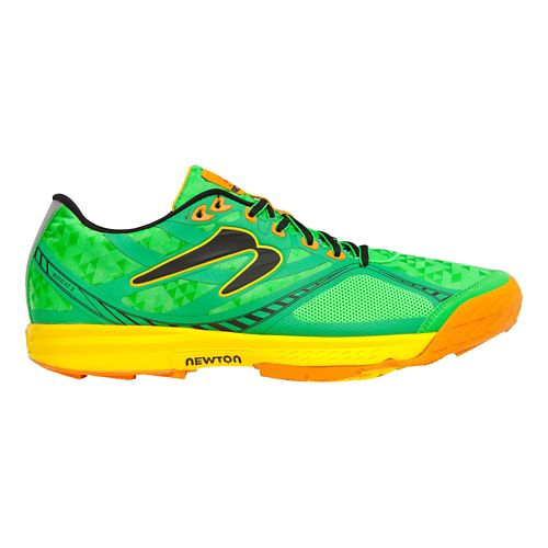 Mens Newton Trail Boco AT II Trail Running Shoe - Green/Orange 11.5