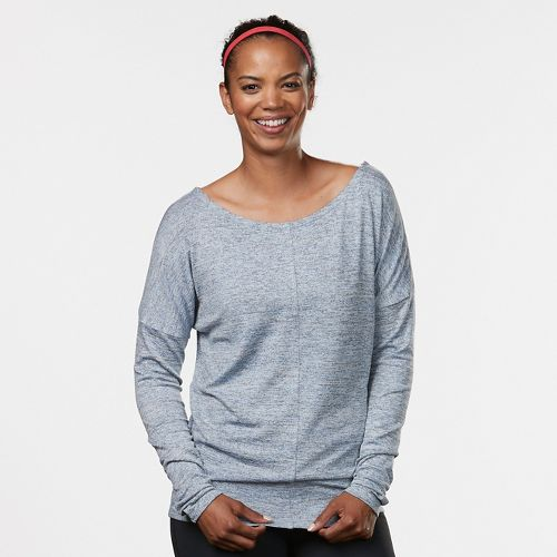 Womens R-Gear All Worked Up Long Sleeve Non-Technical Tops - Grey Mist/Sky Light L