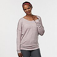 Womens R-Gear All Worked Up Long Sleeve Non-Technical Tops - Blush/Dove Grey S