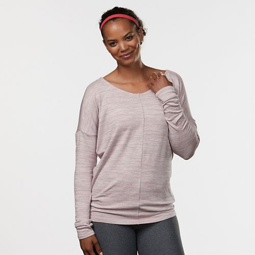 Womens R-Gear All Worked Up Long Sleeve Non-Technical Tops - Blush/Dove Grey L