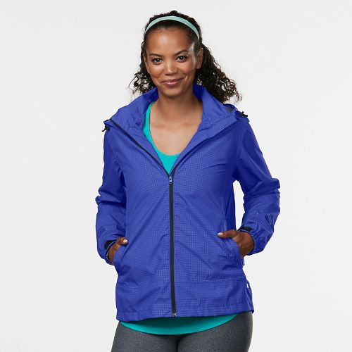 Womens R-Gear Run On Rain Jackets - Sapphire/Sky Light L