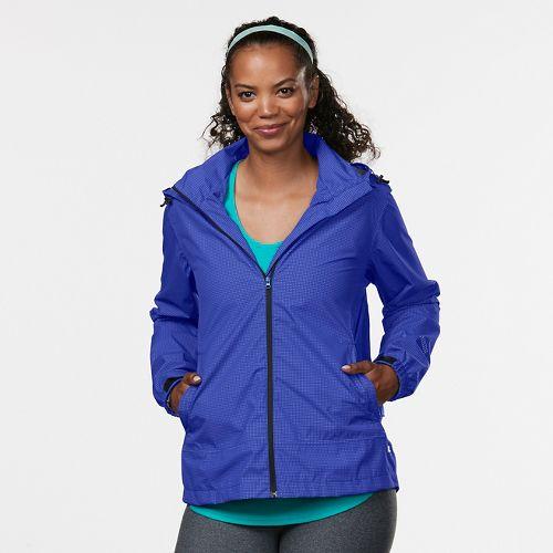 Womens R-Gear Run On Rain Jackets - Sapphire/Sky Light M