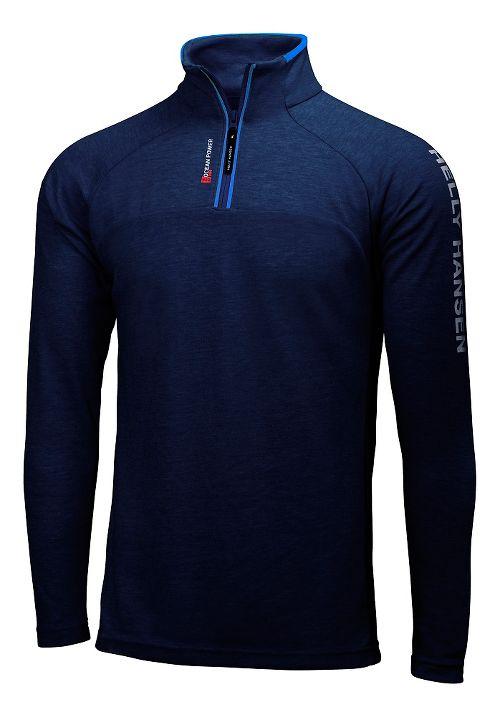 Mens Helly Hansen HP 1/2 Zip Pullover Half-Zips & Hoodies Technical Tops - Navy L