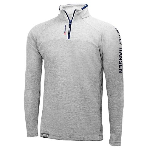 Mens Helly Hansen HP 1/2 Zip Pullover Half-Zips & Hoodies Technical Tops - Grey Melange ...