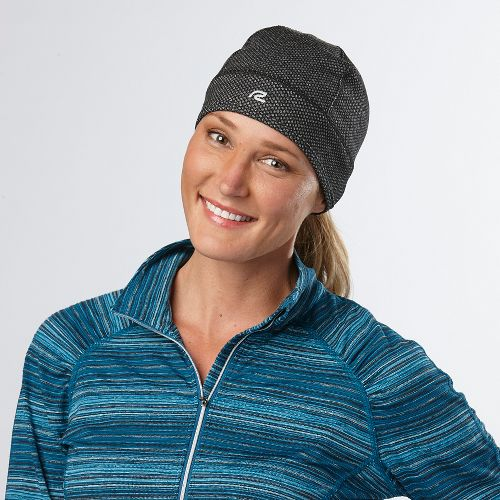 Womens R-Gear Set the Stage Reversible Beanie Headwear - Black Jacquard S/M