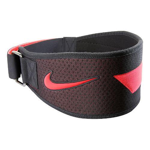 Mens Nike Intensity Training Belt Fitness Equipment - Black/Total Crimson M