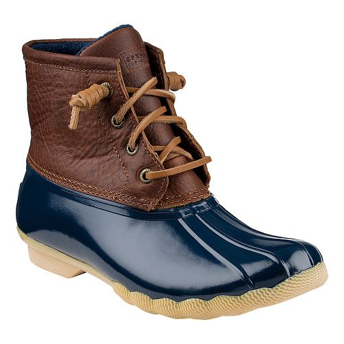 Womens Sperry Saltwater Duck Boot Casual Shoe - Tan/Navy 9