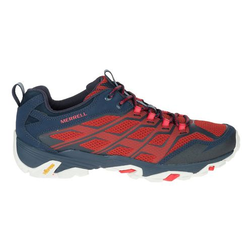 Mens Merrell Moab FST Hiking Shoe - Navy/Dark Red 7.5