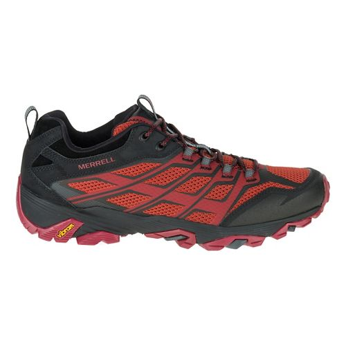 Mens Merrell Moab FST Hiking Shoe - Burgundy/Black 10.5