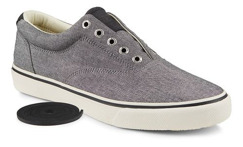 Mens Sperry Striper Chambray Casual Shoe - Black 11.5