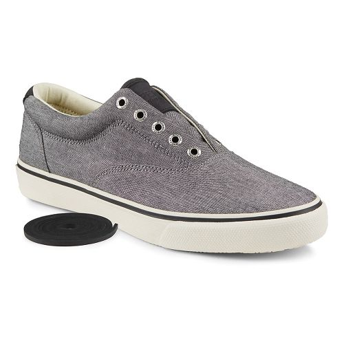 Mens Sperry Striper Chambray Casual Shoe - Black 10