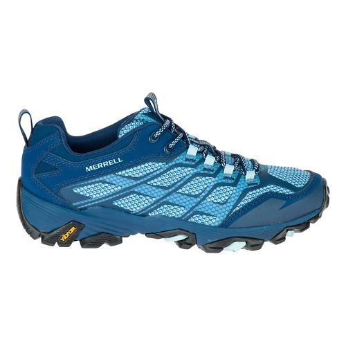 Womens Merrell Moab FST Hiking Shoe - Poseidon 8