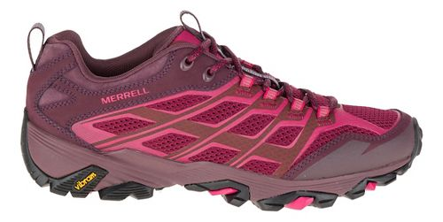 Womens Merrell Moab FST Hiking Shoe - Beet Red 7.5
