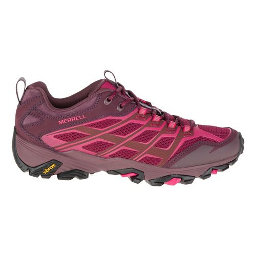 Womens Merrell Moab FST Hiking Shoe - Beet Red 10.5