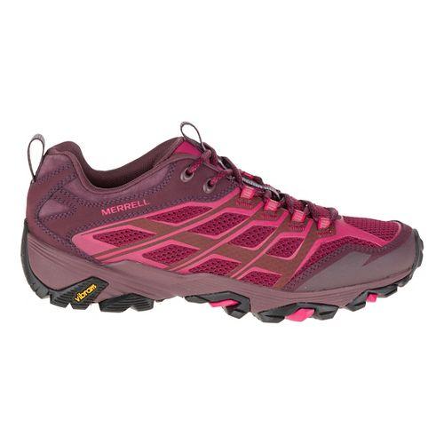 Womens Merrell Moab FST Hiking Shoe - Beet Red 6.5