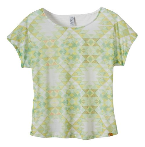 Womens Prana Harlene Short Sleeve Non-Technical Tops - Citronette XS