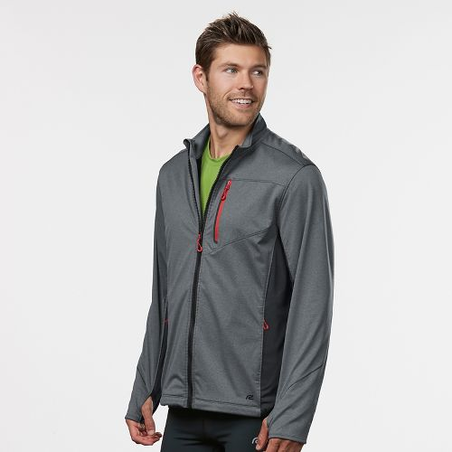 Mens R-Gear Chill Out Rain Jackets - Heather Charcoal S