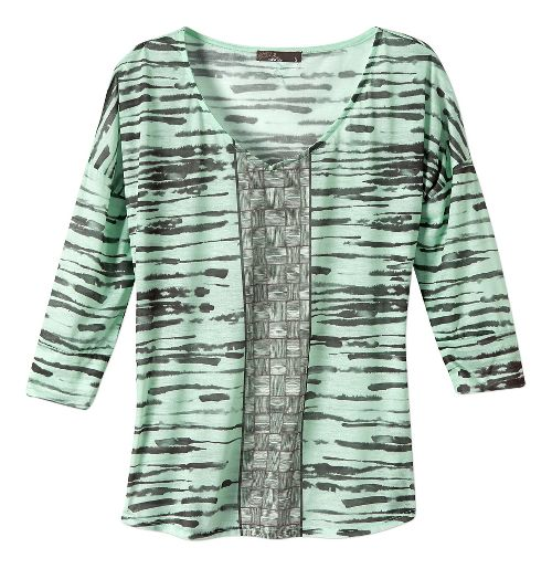 Womens Prana Aleah Long Sleeve Non-Technical Tops - Light Jade S