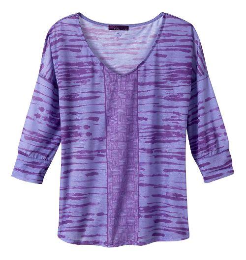 Womens Prana Aleah Long Sleeve Non-Technical Tops - Purple Fog XL