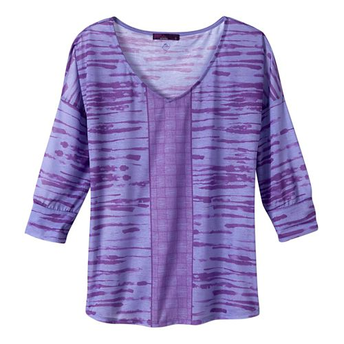 Womens Prana Aleah Long Sleeve Non-Technical Tops - Purple Fog XS